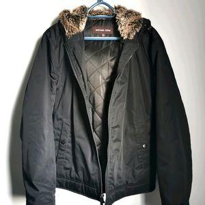 Michael Kors (Men) Bomber Jacket w Faux Fur Small